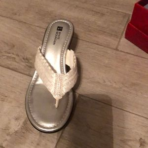 White dressy sandals